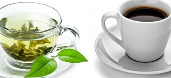 Drink green tea and coffee